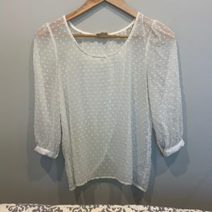 Sheer Cream Urban Outfitters blouse